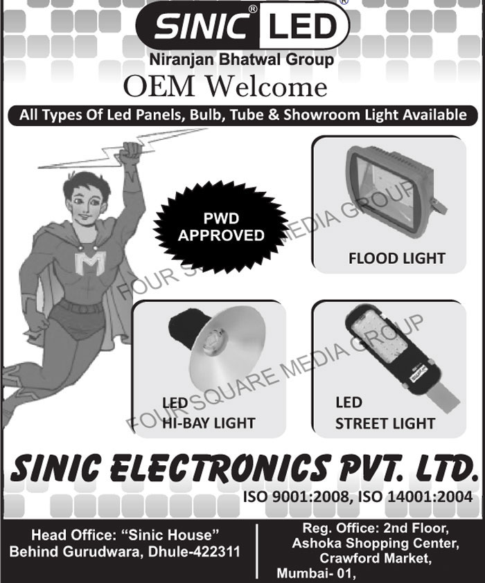 Led Lights, Led Panels, Led Bulbs, Led Tube Lights, Showroom Lights, Led Flood Lights, Led High Bay Lights, Led Street Lights
