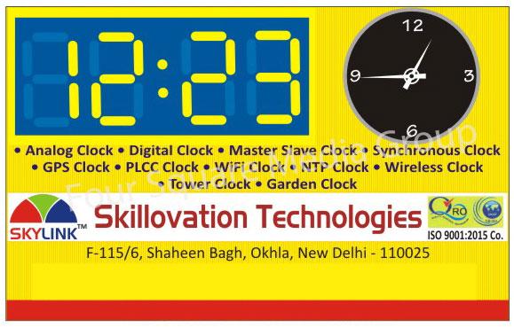 Analog Clocks, Digital Clocks, Master Slave Clocks, Synchronous Clocks, Gps Clocks, Plcc Clocks, Wifi Clocks, Ntp Clocks, Wireless Clocks, Tower Clocks, Garden Clocks