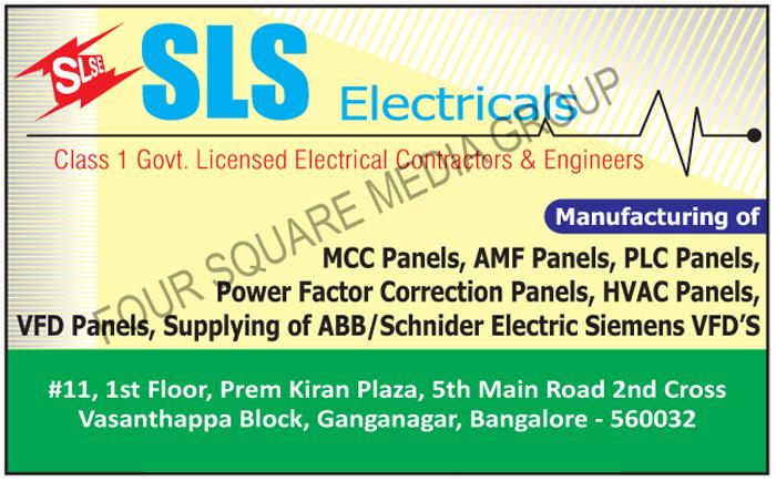 MCC Panels, AMF Panels, PLC Panels, Power Factor Correction Panels, HVAC Panels, VFD Panels, VFD