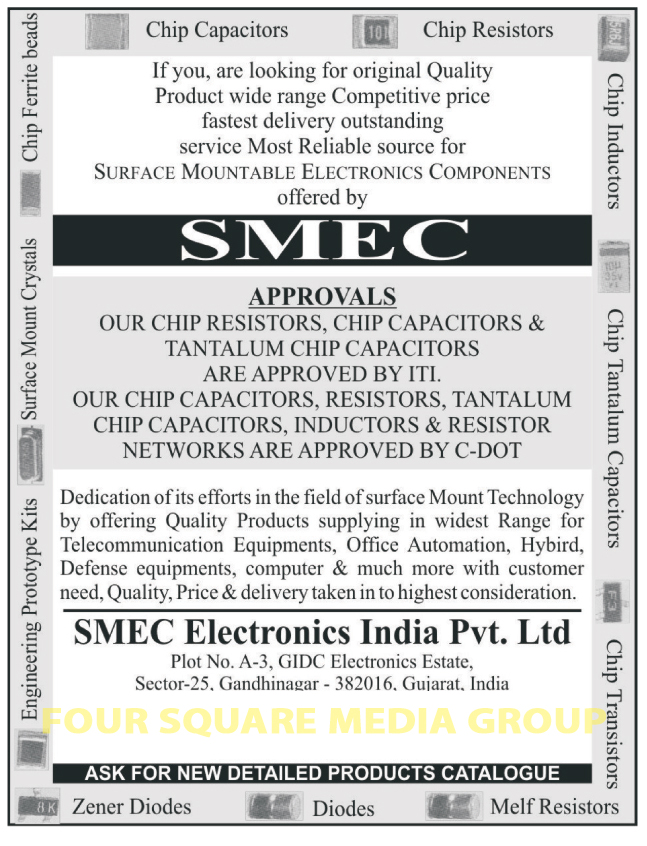 Capacitors, Chip Capacitors, Tantalum Chip Resistors, Resistors, Chip Resistor, Inductors, Chip Transistors, Transistors, Chip Inductors, Engineering Prototype Kits, Surface Mount Crystals, Chip Ferrite Beads, Melf Resistors, Diodes, Zener Diodes, Electronic Components