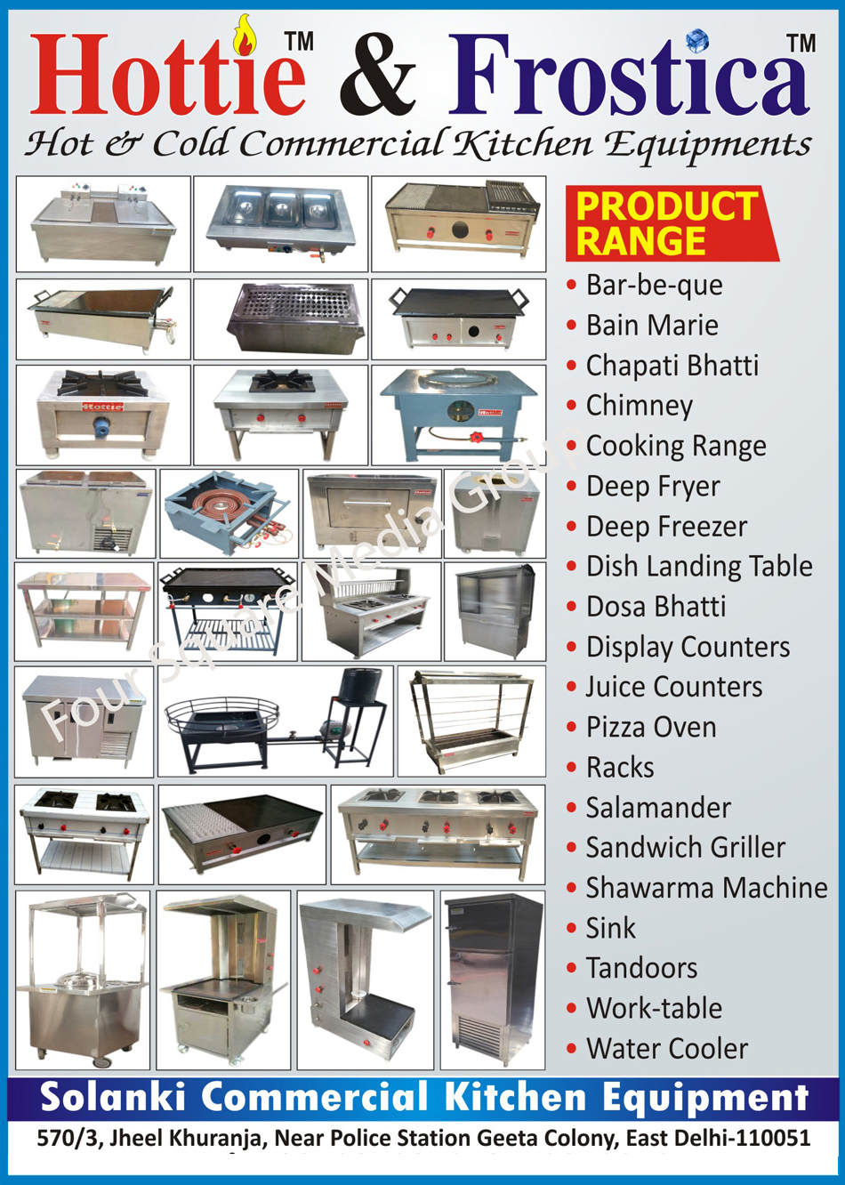 Hot Commercial Kitchen Equipments | Cold Commercial Kitchen ...