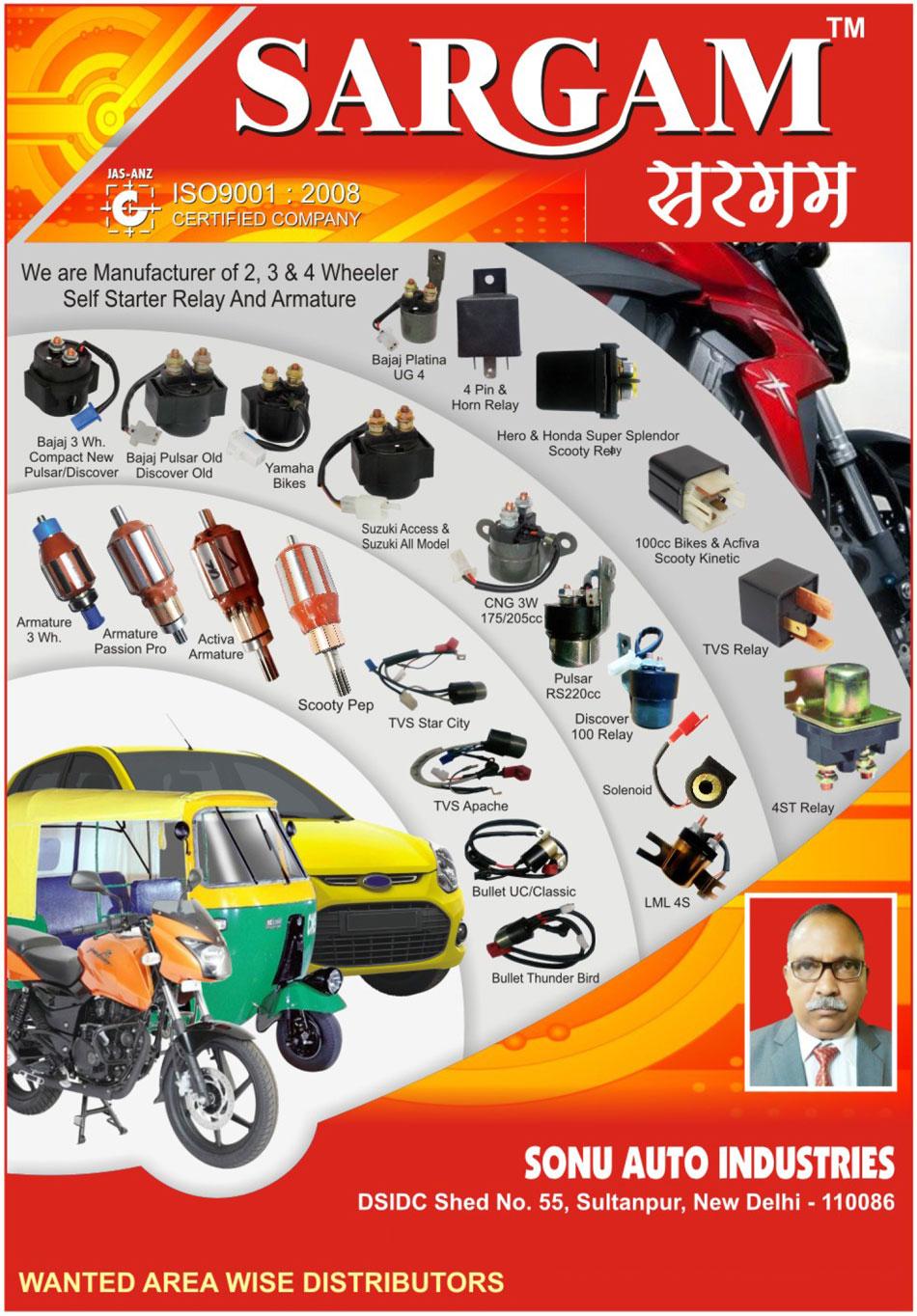 Sonu Auto Industries, New Delhi, Manufacturer of - Automotive ...