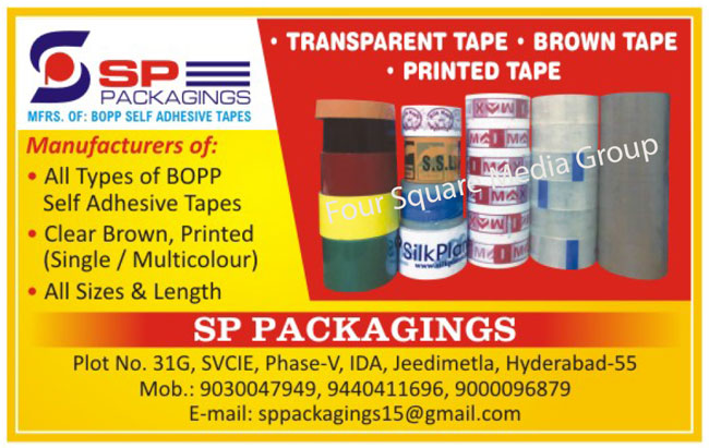 Transparent Tapes, Brown Tapes, Printed Tapes, BOPP Self Adhesive Tapes, Clear Tapes, Single Color Printed Tapes, Multi Color Printed Tapes, Printed Tapes