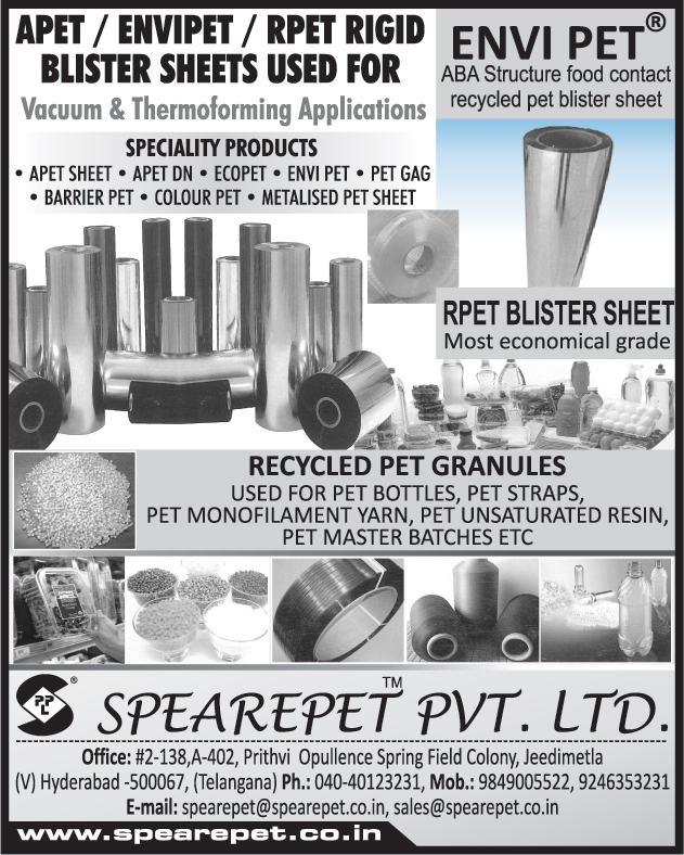 APET Blister Sheets, Envipet Blister Sheets, RPET Rigid Blister Sheets, Blister Sheets, APET Sheets, Metallised Pet Sheets, Colour Pets, Barrier Pets, ENVI Pets, RPET Blister Sheets, Recycled Pet Granules,Pet Rolls, Pet Thermo Formed products, Pet Printed Cartons