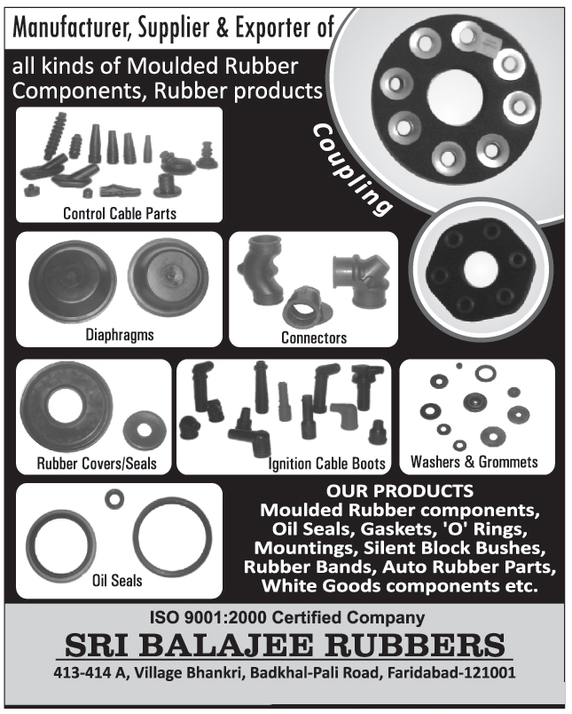 Moulded Rubber Components | Rubber Products | Couplings