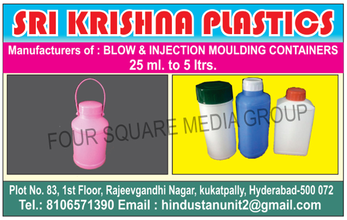 Blow Moulding Containers, Injection Moulding Containers