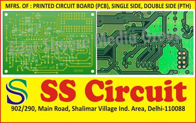 Printed Circuit Boards, PCBs, Single Side PCBs, Single Side Printed Circuit Boards, Double Side PCBs, Double Side Printed Circuit Boards, Double Side PTH Printed Circuit Boards, Double Side PTH PCB