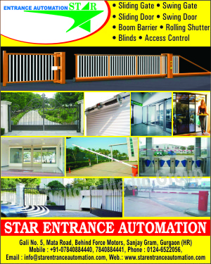 Sliding Gate, Swing Gate, Sliding Door, Swing Door, Boom Barrier, Rolling Shutter, Blinds, Access Controls, Road Safety Products