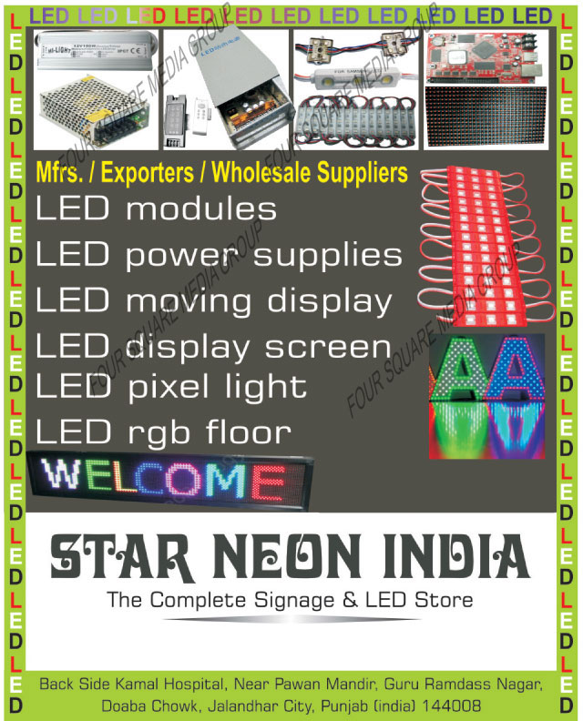 Led Modules, Led Power Supplies, Led Moving Displays, Led Display Screen, Led Pixel Lights, Led RGB Floor