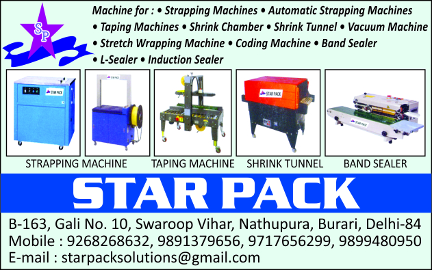 Strapping Machines, Automatic Strapping Machines, Taping Machines, Shrink Chambers, Shrink Tunnels, Vacuum Machines, Stretch Wrapping Machines, Coding Machines, Band Sealers, L Sealers, Induction Sealers
