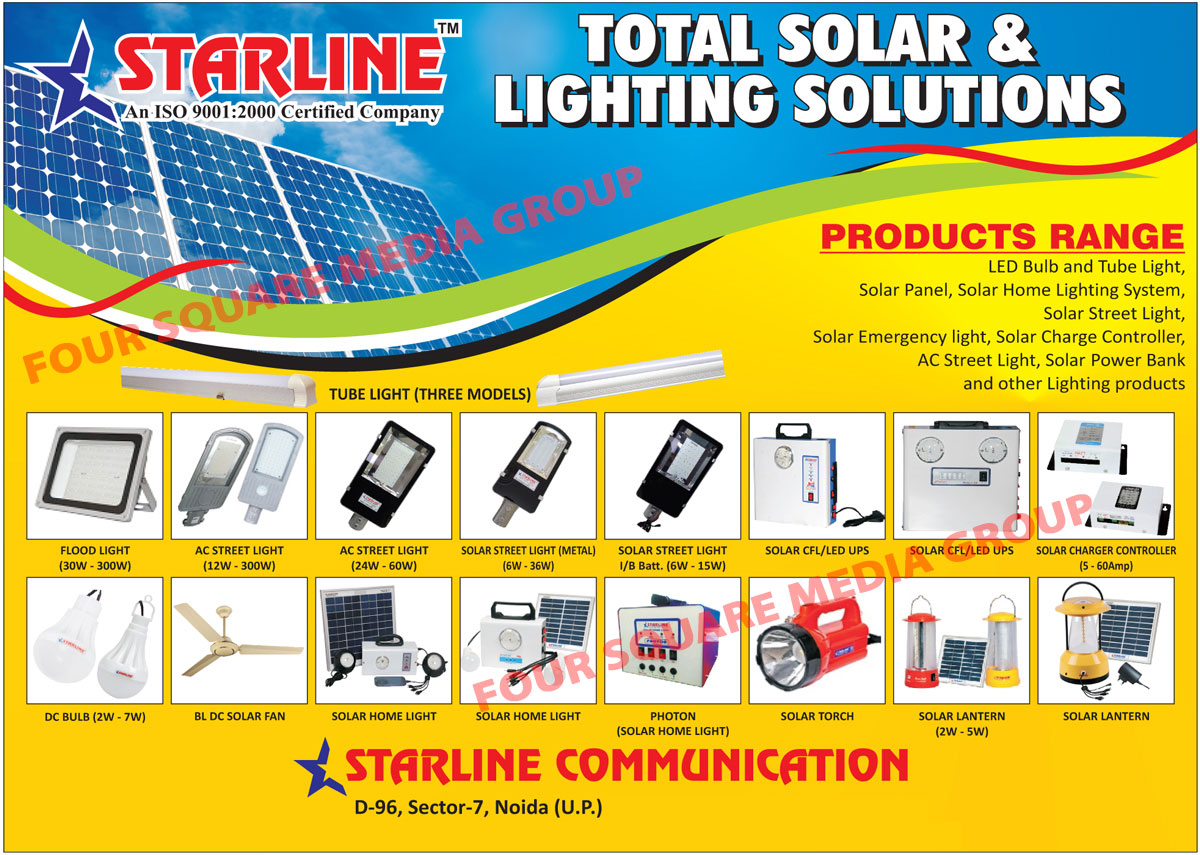 Led Lights, Led Bulbs, Led Tube Lights, Solar Products, Solar Panels, Solar Home Lighting Systems, Solar Street Lights, Solar Emergency Lights, Solar Charge Controllers, AC Street Lights, Solar Power Banks, Flood Lights, Solar Street Lights, Solar CFL Ups, Solar Led Ups, DC Bulbs, BL DC Solar Fans, Solar Home Lights, Solar Torch, Solar Lantern