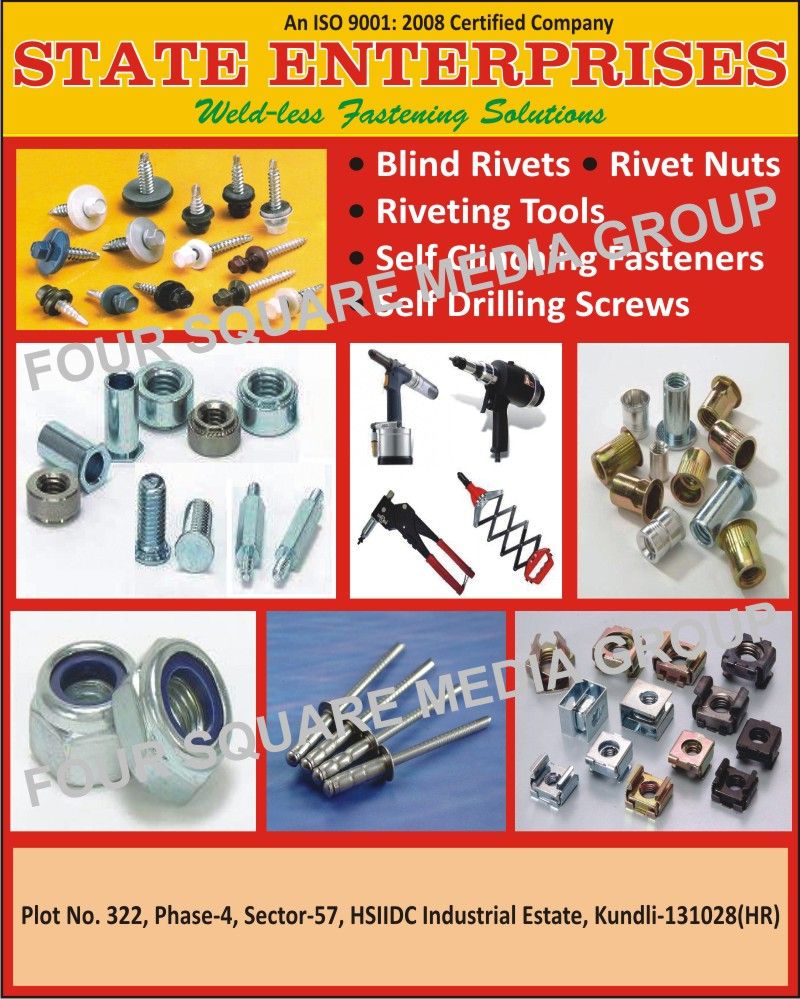 Blind Rivets, Rivets, Rivet Nuts, Riveting Tools, Self Clinching Fasteners, Self Drilling Screws, Fastening Solutions,Fasteners, Screws, Drilling Screw