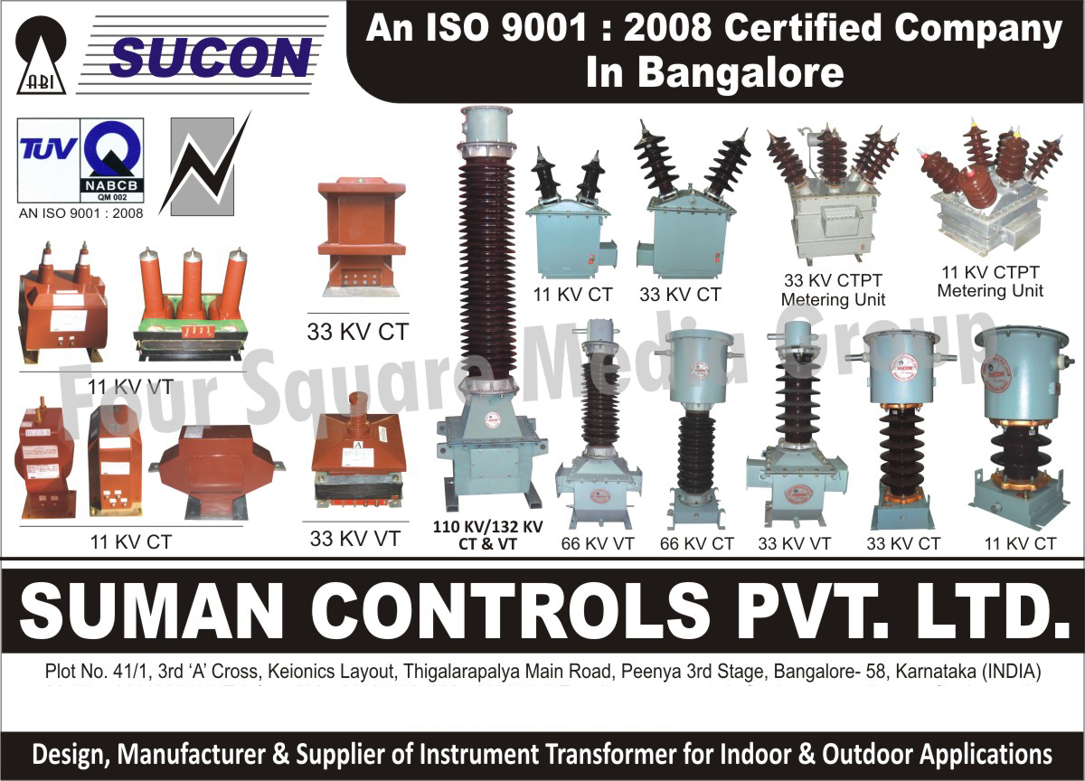 Instrument Transformer For Indoor Applications, Instrument Transformer For Outdoor Applications,