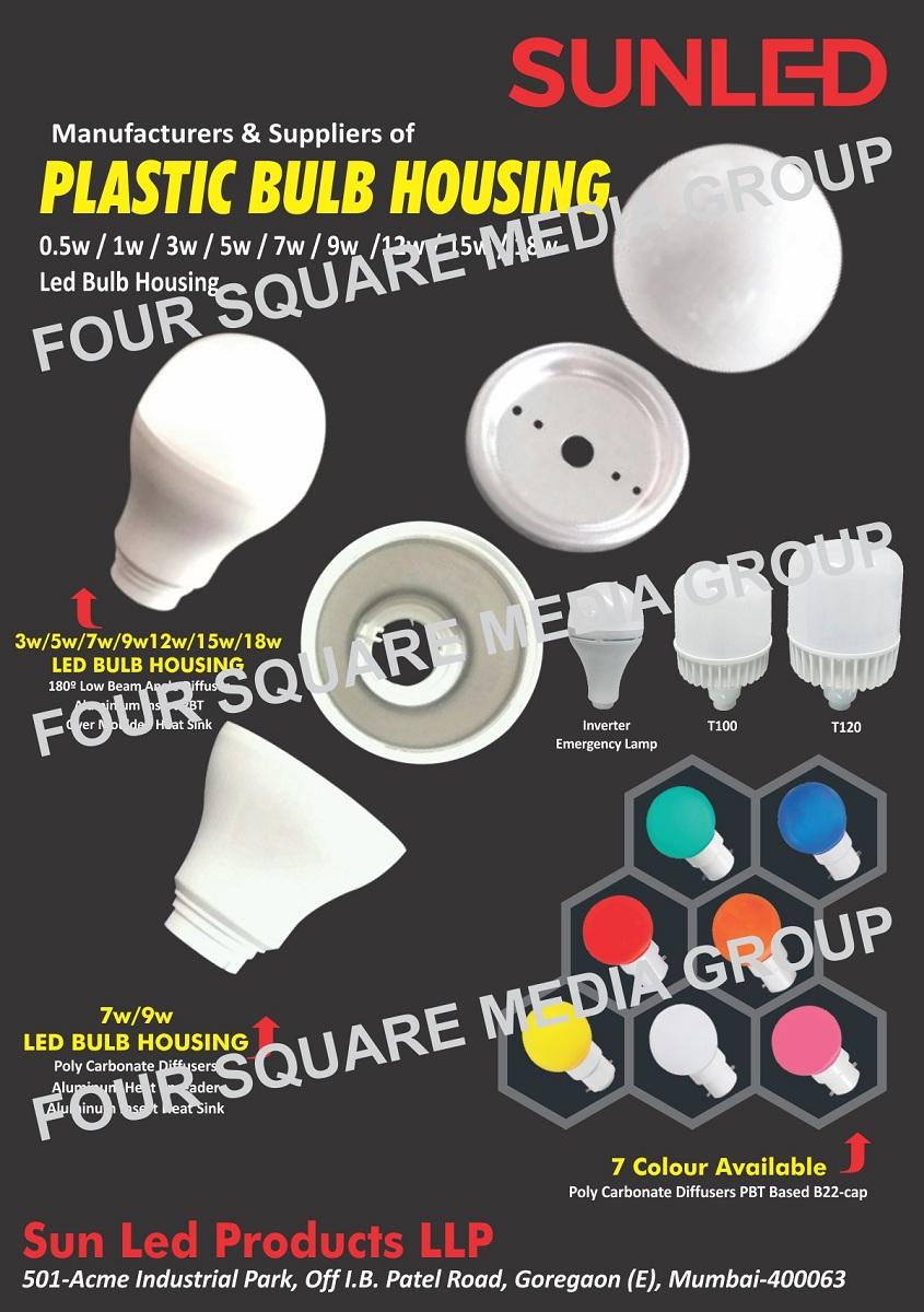 Plastic Bulb Housing, Led Light Housing, Led Bulb Housing