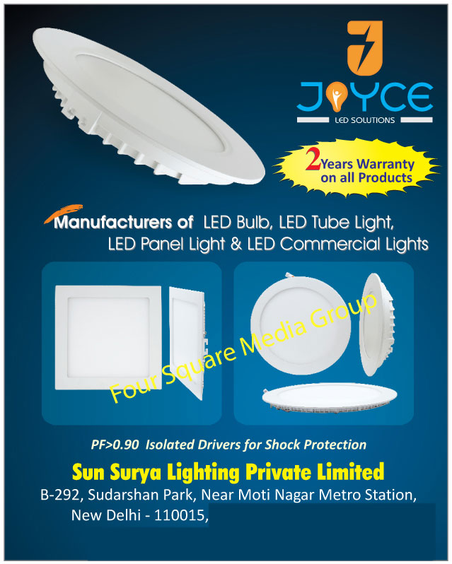Led Lights, Led Bulbs, Led Tube Lights, Led Panel Lights, Led Commercial Lights