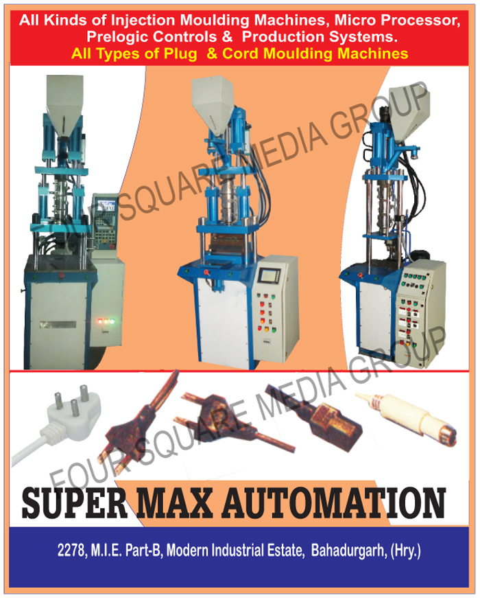 Injection Moulding Machines, Micro Processor, Prelogic Control Systems, Prelogic Production Systems, Plug Moulding Machines, Cord Moulding Machines
