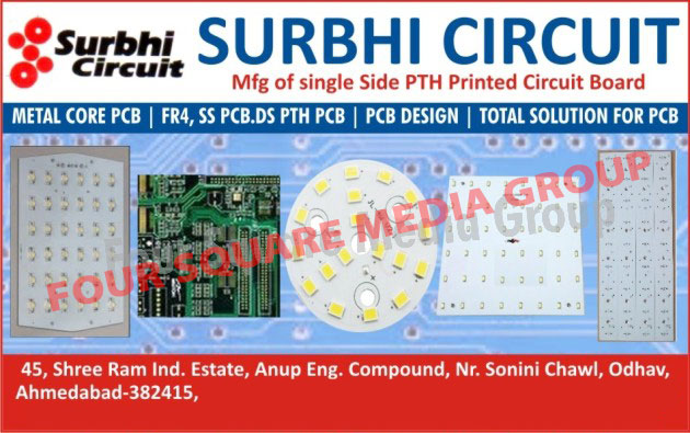 Printed Circuit Boards, PCB, Metal Core Printed Circuit Boards, MCPCB, Single Side PTH Printed Circuit Boards, Single Side PTH PCB, FR4 Printed Circuit Boards, FR4 PCB, SS PCB, SS Printed Circuit Boards, Double Side PTH Printed Circuit Boards, Double Side PTH PCB, PCB Designing Services, Printed Circuit Boards Designing Service