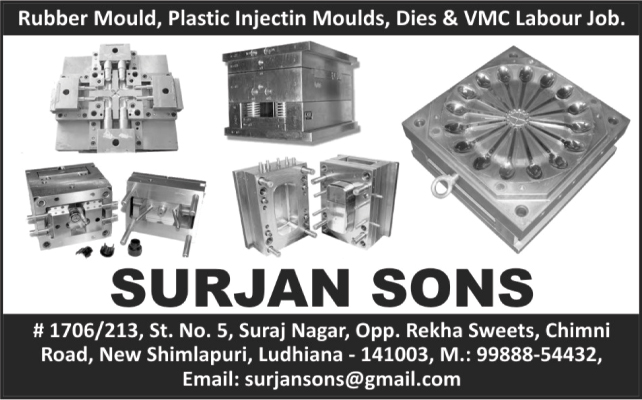Rubber Moulds, Plastic Injection Moulds, Die Job Works, VMC Labour Job Works