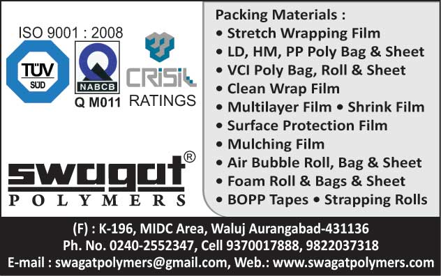 Packing Materials, Stretch Wrapping Films, LD Poly Bags, Ld Sheets, PP Poly Bags, PP Sheets, HM Poly Bags, HM Sheets, VCI Poly Bags, VCI Rolls, VCI Sheets, Clean Wrap Films, Multilayer Films, Shrink Films, Surface Protection Films, Mulching Films, Air Bubble Roll, Air Bubble Bags, Air Bubble Sheets, Foam Rolls, Foam Bags, Foam Sheets, Bopp Tapes, Strapping Rolls,Cling Wrap, Masking Film, Poly bags, Stretch Film, Antistatic Film