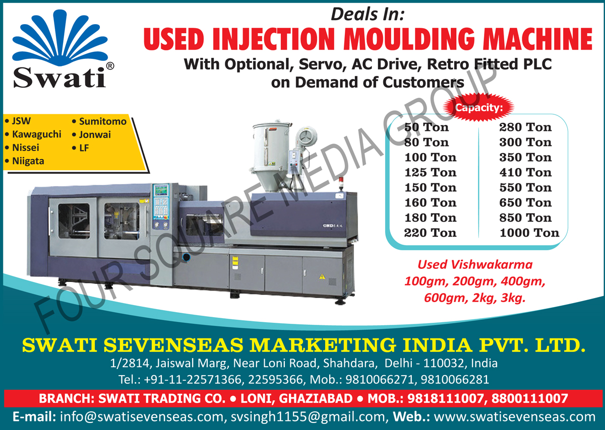 Used Injection Moulding Machines, Second Hand Injection Moulding Machines