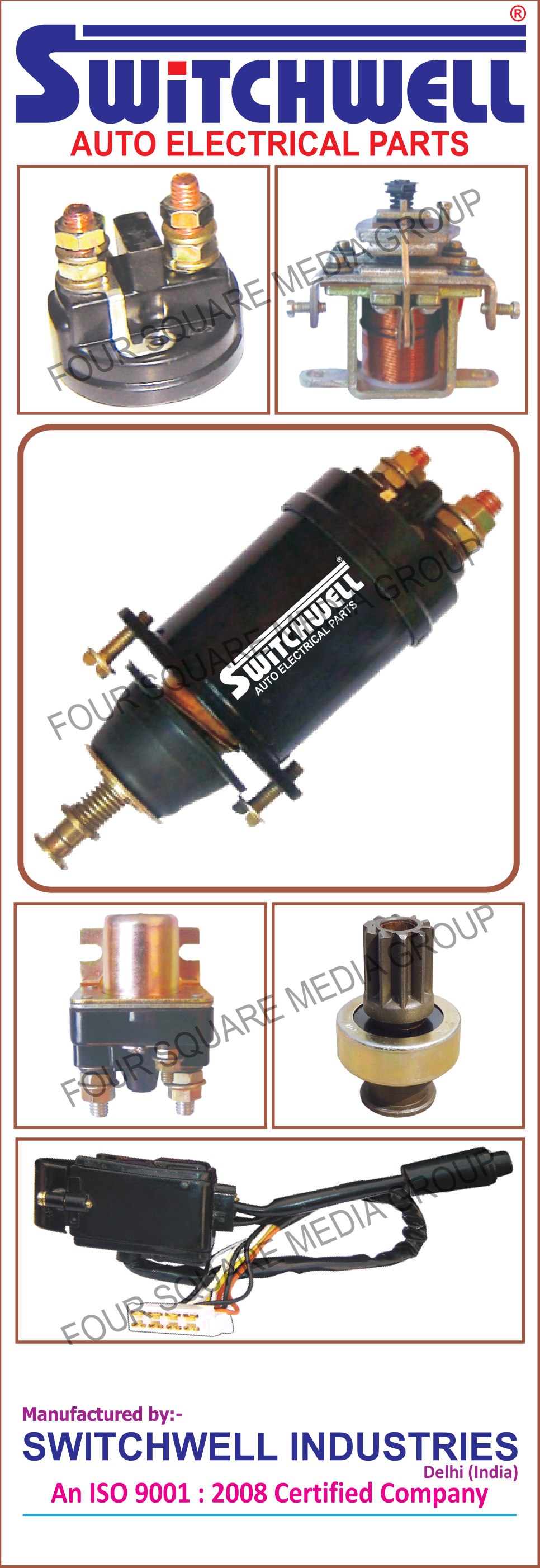 Auto Electrical Parts - Switchwell Industries, Manufacturers in Delhi