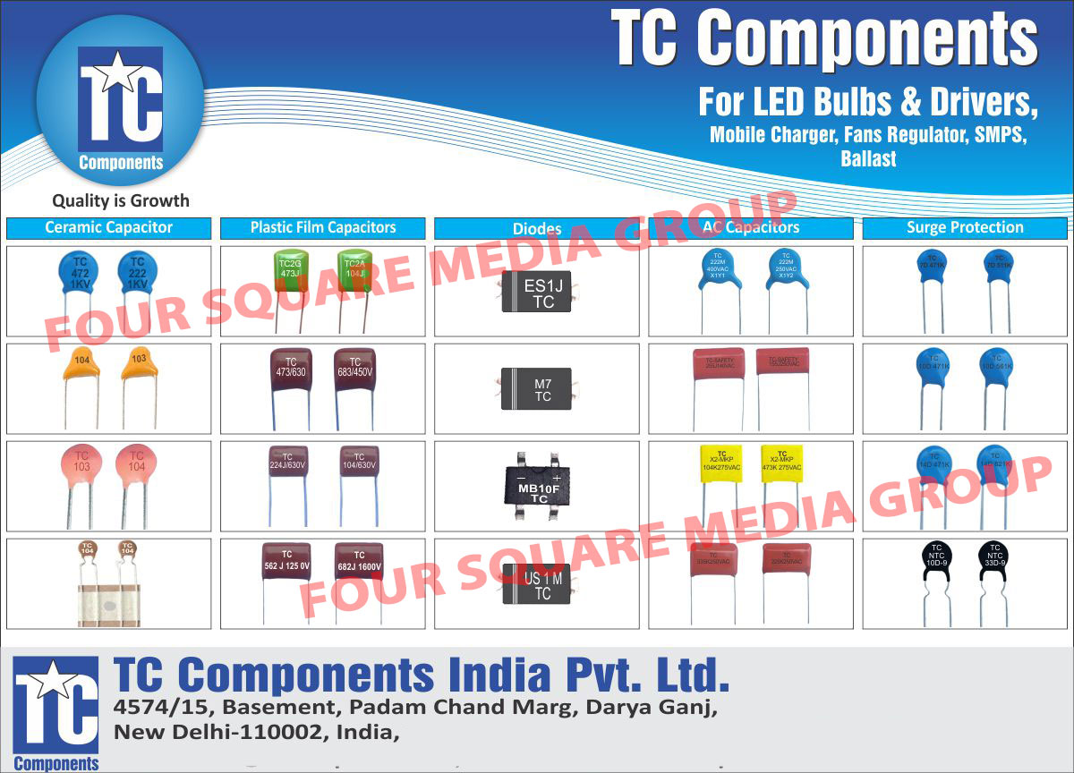 Ceramic Capacitors, Plastic Film Capacitors, Diodes, AC Capacitors, Surge Protection Capacitors, Capacitors