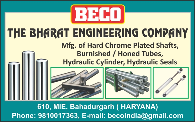 Hard Chrome Plated Shafts, Burnished Tubes, Honed Tubes, Hydraulic Cylinders, Hydraulic Seals,Hyd. Cylinder, Hyd Seals