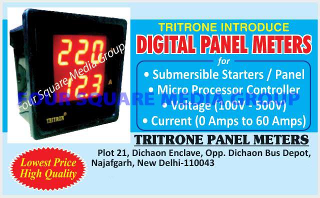 Submersible Starter Digital Panel Meters, Submersible Panel Digital Panel Meters, Micro Processor Controller Digital Panel Meters, Voltage Digital Panel Meters, Current Digital Panel Meters, Digital Panel Meters