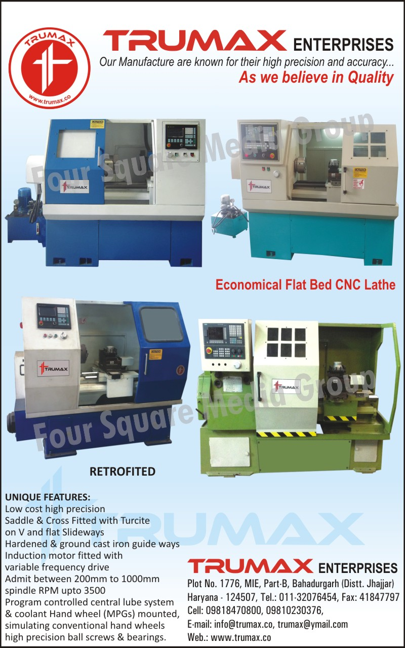 Economical Flat Bed CNC Lathe Machines