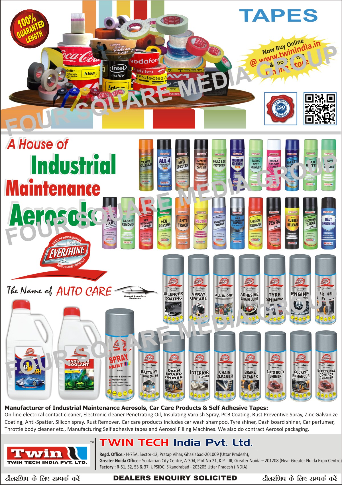 Automotive Care Products, Car Care Products, Self Adhesive Tapes, Industrial Maintenance Aerosols, HACKER Mosquito Vaporizer, Dashboard Shiner, Engine Lacquer Coating, Auto Body Shiner, Adhesive Chain Lube, Silencer Coating Spray, Tyre Shiner, Alloy Wheel Cleaner, Automotive Battery Terminal Coating , Automotive Electrical Cleaner, Brake Cleaner, Online Electrical Contact Cleaner, Electronic Cleaner Penetrating Oil, Insulating Varnish Spray, Printed Circuit Board Coating Aerosol, Synthetic Rubber Coating Galvanize Aerosol, Brass Coating Aerosol, SS Coating Aerosol, Rust Preventive Spray, Zinc Galvanize Coating, Anti Spatter, Silicon Spray, Rust Remover, Car Wash Shampoo, Dashboard Shiner, Car Perfumer, Throttle Body Cleaner, Aerosol Packaging Service, Aerosol Filling Machine, Automotive Air Freshener, Car Perfume, Booster Pump for Aerosol Industry, Crimping Machine for Aerosol Industry, Pneumatic De Crimper for Aerosol Industry, Aerosol Machines, Gas Filling Machine for Aerosol Industry, Liquid Filling Machine for Aerosol Industry, Hand Operated Crimping Machine for Aerosol Industry, De Crimping Machine for Aerosol Industry, Deodorising Column for Aerosol Industry, Mixer machine for Aerosol Industry, Fabric Spot Remover, Mould Cleaners, Wire Rope Lubes, Carbon Remover, Mould and Die Protectors, Red Insulating Varnish, Electronic Cleaner Co2, Pen Oil, Air Drying Paints, Car Polish, Glass Cleaner Liquid, Injection Moulding Spray, Injection Molding Spray, Tuff Cleaners, Multipurpose Product CO2, White Lithium Grease, Silco Free Spray, Moly Chain Lubes, Safety Solvent CO2, Wax Kote, Silco R, Silicon Release Agent Spray, Cold Galvanising Compound, Gasket Removers, PCB Coating Spray, Anti Track Spray, Rubber Release Spray, Belt Dressing Spray, Home Car Products, Furniture Polish, Treadmill Lubricants, Floor Sanitizers, Car Deo, Radiator Coolants, Interior Cleaners, Chain Cleaners, Cockpit Enhancer