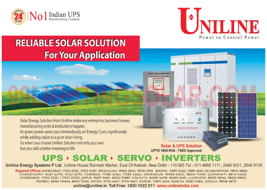 Online UPS, Offline UPS, Line Interactive UPS, Solar PV Modules, Solar Photovoltaic Modules, Servo Stabilizers, Inverters,Solar Power Solutions, UPS, Solar Energy, Stabilizer