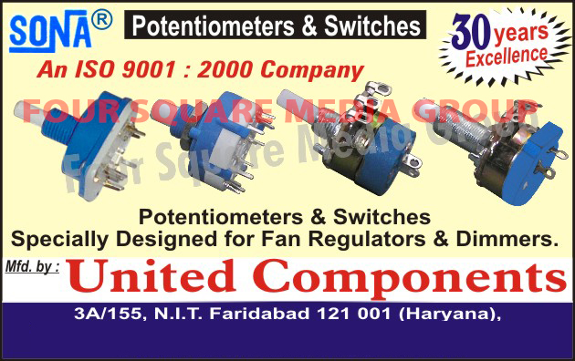 Dimmer Switches, Potentiometers, Regulator switches,