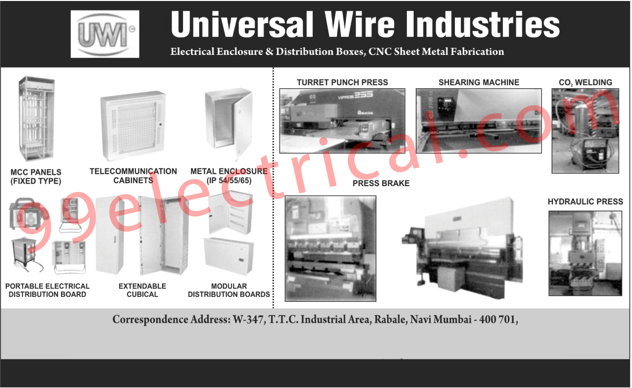 Electrical Products, Electrical Enclosure Boxes, Electrical Distribution Boards, Metal Enclosures, Enclosures, MCC Panels, Fixed Type MCC Panels, Press Brake, Telecommunication Cabinets, Distribution Boxes, Telecommunication Cabinet, Turret Punch Press, Shearing Machine, CO2 Welding, Hydraulic Press, Metal Enclosures, Fixed Type MCC Panels