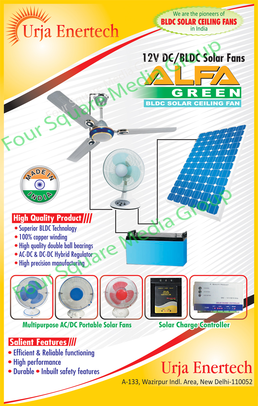 AC Portable solar Fan, DC Portable Solar Fan, Solar Fans, Solar Ceiling Fans, Solar Charge Controller, Led Bulbs, Led Lights, Led Panel Lights, Led Tube Lights,Solar Charge Controller, Solar DC Fan, Home Light Systems, Solar DC Led Bulbs, Solar Lanterns