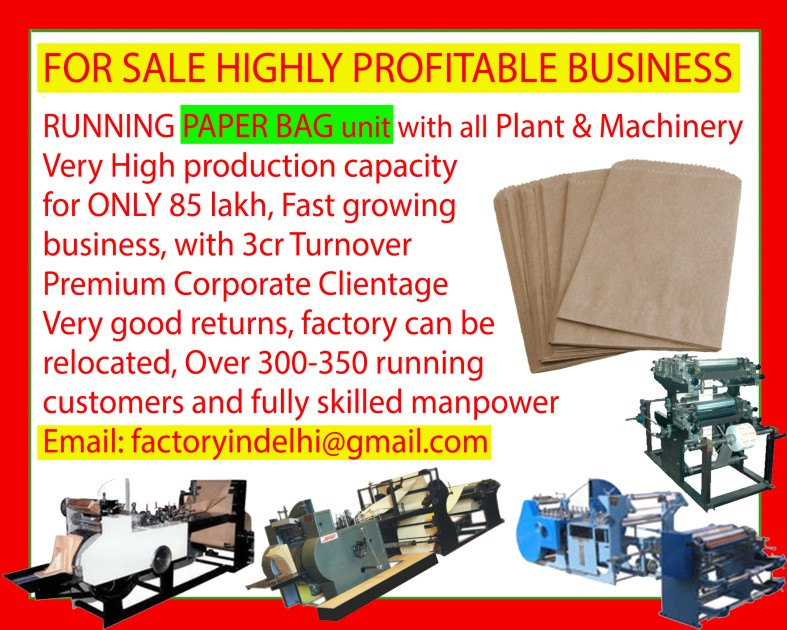 Paper Bag Unit, Paper Bag Plant, Paper Bag Machine