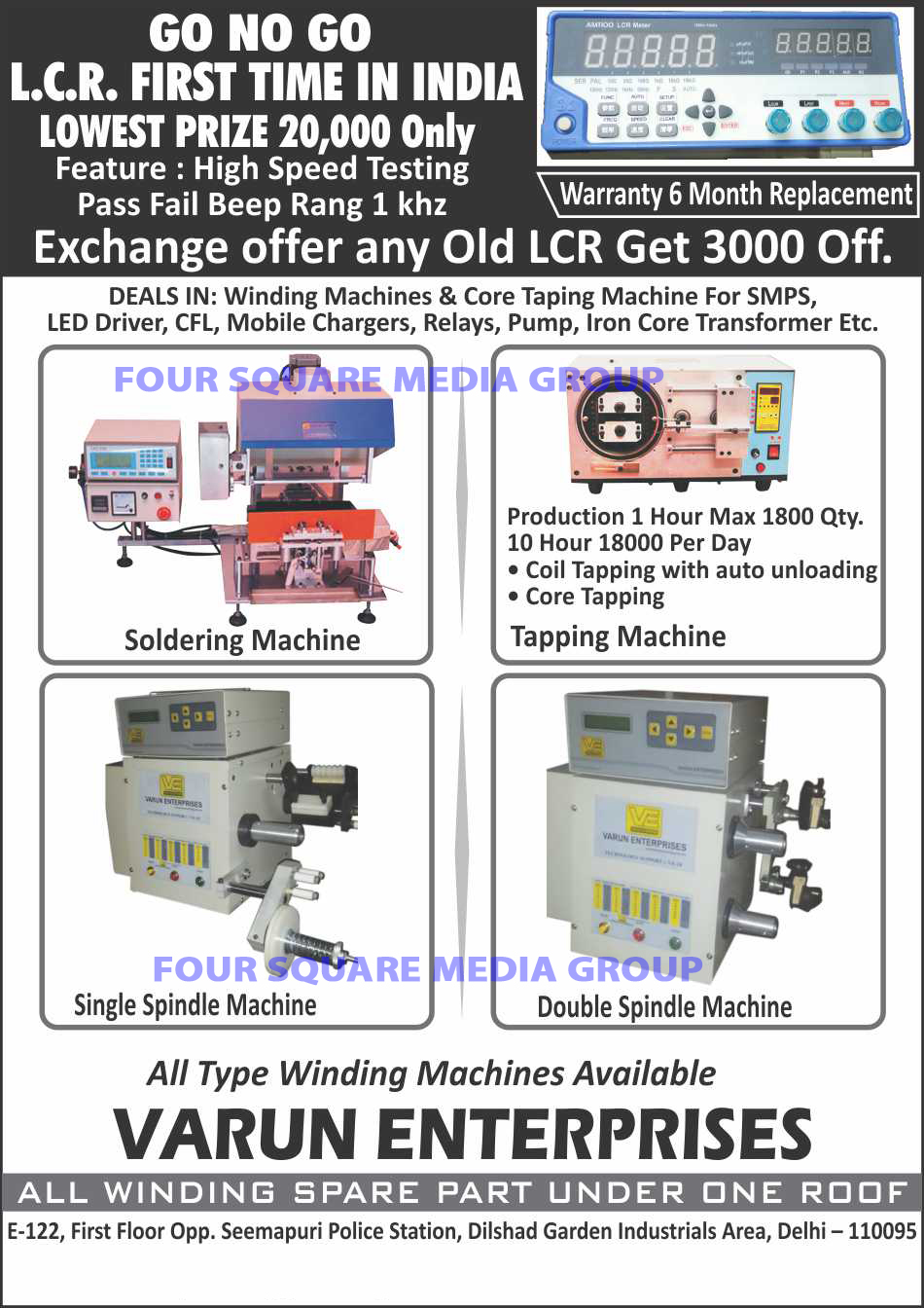 Winding Machine Repairs, Winding Machines, Core Taping Machines, SMPS Core Taping Machines, Led Driver Core Taping Machines, CFL Core Taping Machines, Mobile Charger Core Taping Machines, Relay Core Taping Machines, Pump Core Taping Machines, Iron Core Transformer Taping Machines, Winding Spare Parts, Spindle Machines, Taping Machines, Soldering Machines, LCR