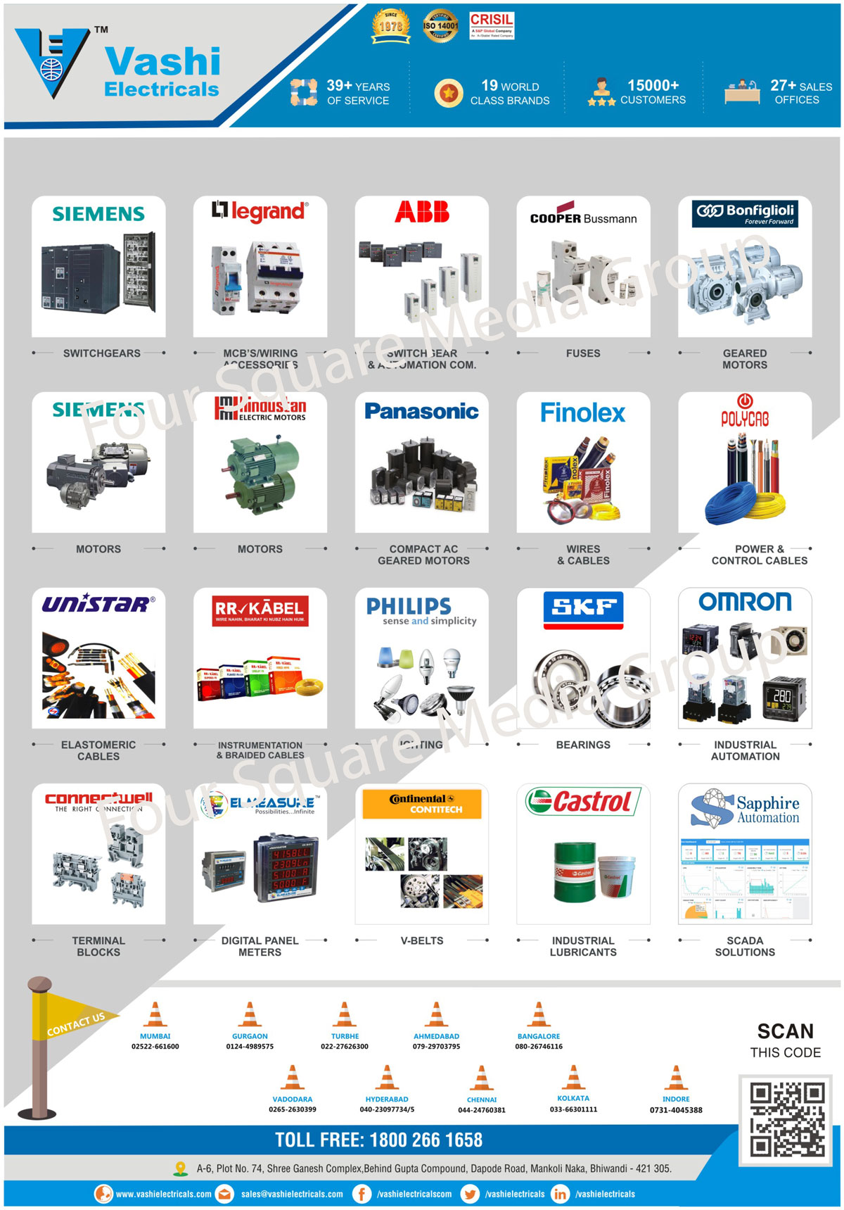 Switchgear, Geared Motors, MCBs, Wiring Accessories, Electric Motors, Active Harmonic Filters, Elastomeric Cables, Industrial Lubricants, Power Tools, Compact Ac Geared Motors, Lighting, Terminal Blocks, Wires, Cables, Fuses, Compact Modular Fuses, Photovoltaic Fuses, Low Voltage Fuses, Medium Voltage Fuses, Ammeters, Voltmeters, VAF Meters, Load Managers, Energy Meters, Dual Source Energy Meters, Generator Monitoring Units, Data Loggers, High Profile Power Analysers, Intelligent Earth Leakage Relays, IELR, Intelligent Power Factor Controllers, IPFC, Industrial Lights, High Bay Lights, Well Glass Lights, Bulk Head Lights, Outdoor Lights, Flood Lights, Street Lights, Post Top Lights, Bollards, Master Led Spot MV, Solar Power Solutions, Solar Street Lights, Solar Water Heaters, Solar Thermal Water Heaters, Solar PV System Integration, Drives, Power Cables, Control Cables, Instrumentation Cables, Braided Cables, Rolling Bearings, Digital Panel Meters, Industrial Automation, Automation Commissioner