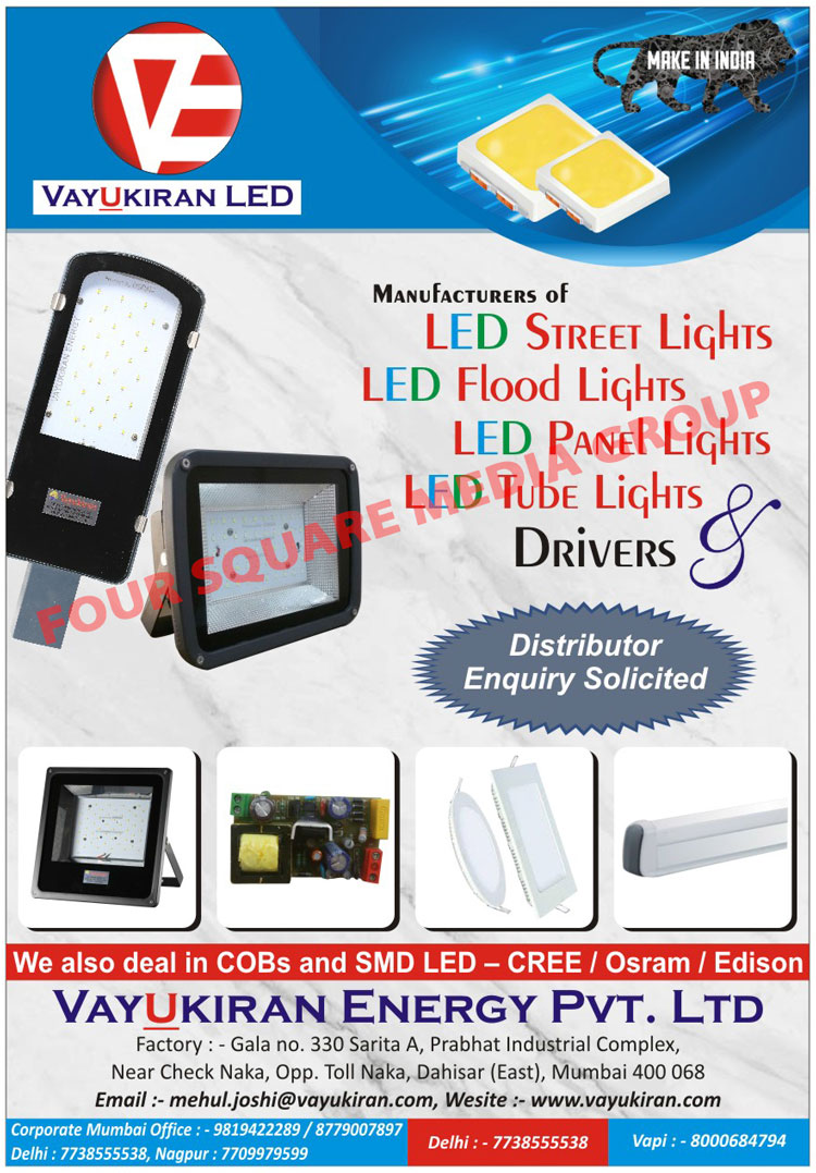 Led Lights, Led Street Lights, Led Flood Lights, Led Panel Lights, Led Tube Lights, Led Drivers, Cob Lights, SMD Led