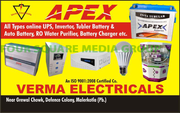 Online UPS, Inverters, Tubler Batteries, Automotive Batteries, RO Water Purifiers, Reverse Osmosis Purifiers, Battery Chargers