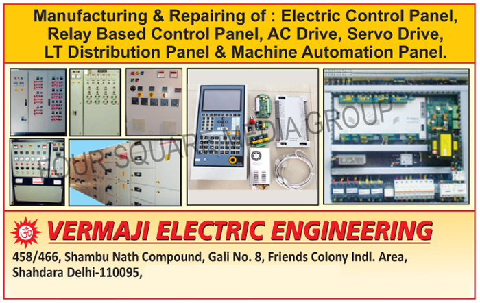 Electric Control Panels, Relay Based Control Panels, AC Drives, Servo Drives, LT Distribution Panels, Machine Automation Panels, Electric Control Panel Repairing Services, Relay Based Control Panel Repairing Services, AC Drive Repairing Services, Servo Drive Repairing Services, LT Distribution Panel Repairing Services, Machine Automation Panel Repairing Services