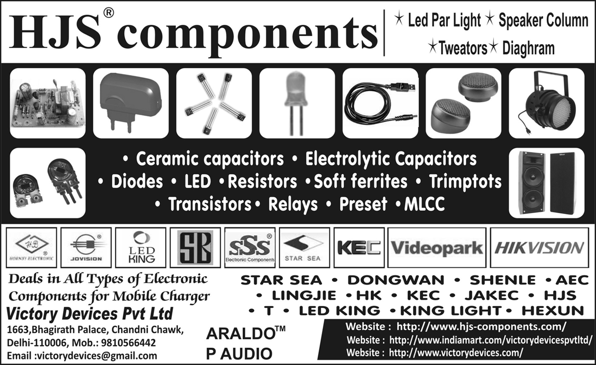 LED Driver Components, LED Bulbs Components,Ceramic Capacitors, Electronic Components, Led, Resistors, Electrolytic Capacitor, Diodes, Soft Ferrites, Mlcc, Trimptots, Capacitors, Ferrites, Transistors, Relays, Preset, Charger, Ic Base, Batteries, Audio Video Cables