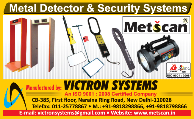 Security Systems, Door Frame Metal Detectors, Hand Held Metal Detectors, Search Lights, Guard Watch Systems, Under Vehicle Inspection Mirrors,Metal Detectors