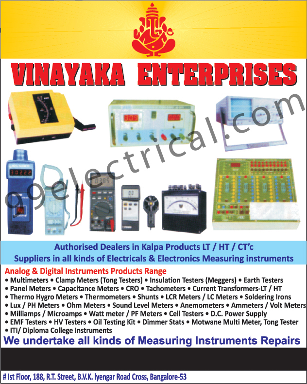 Electronic Measuring Instruments, Electrical Measuring Meters, Multimeters, Clamp Meters, Insulation Testers, Earth Testers, Panel Meters, Capaciatance Meters, CRo, Tachometers, Current Transformers LT, Current Transformers HT, Thermo Hygro Meters, Ohm Meters, Sound Lavel Meters, Anemometers, Ammeters, Volt Meters, Milliamps, Microamps, Watt Meters, PF Meters, Cell Testers, DC Power Supply, EMF Testers, HV Testers, Oil Testing Kits, Dimmer Stats, Motwane Multi Meters, Tong Testers, ITI Collage Instruments, Diploma College Instruments, Measuring Instrument Repairs,Measuring Instruments, Electrical Measuring Equipment, Electrical Product, Analog Instruments, Digital Instruments, Meggers, CRO, Thermometers, Meters, Soldering Irons