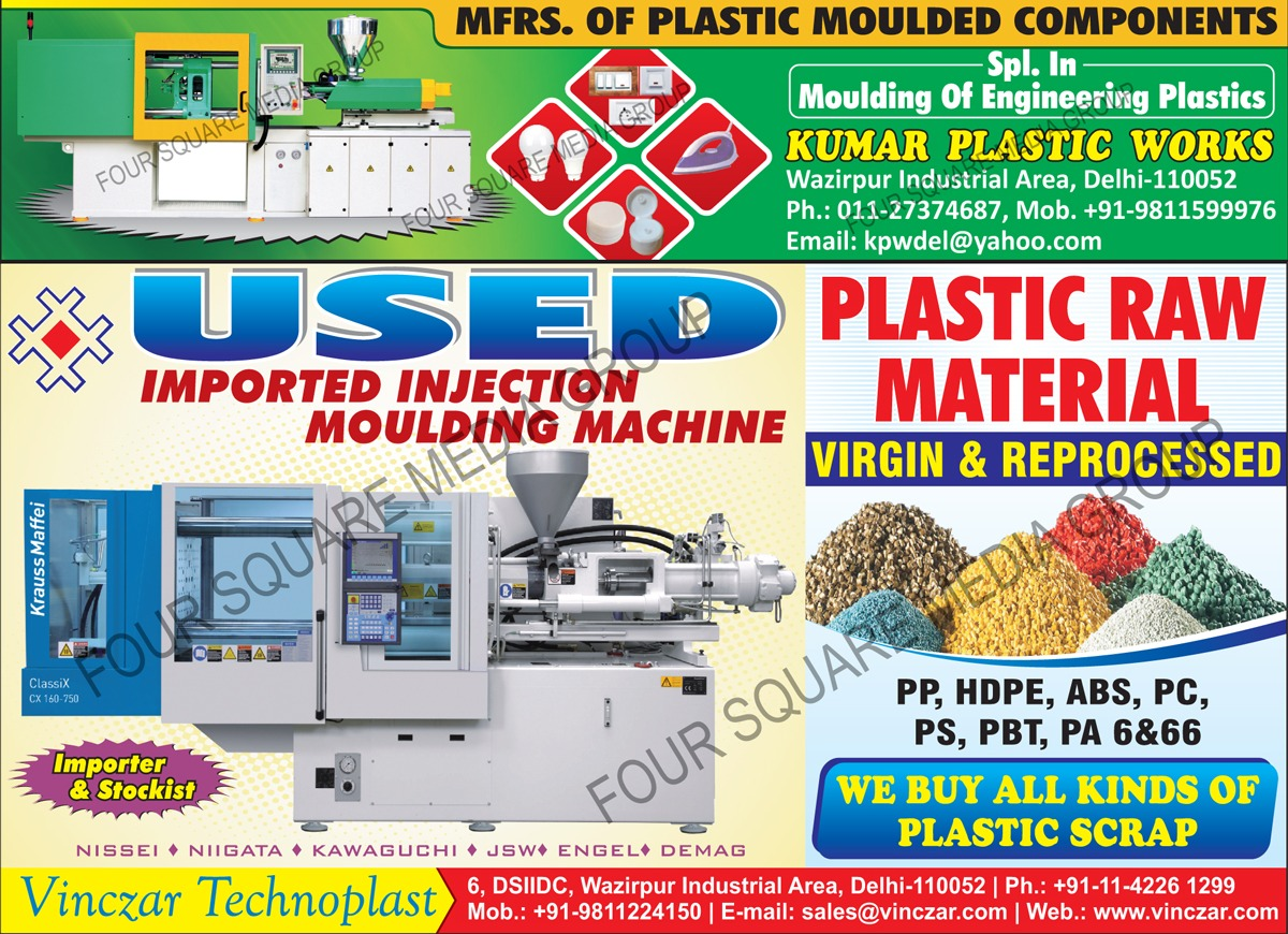 Plastic Moulded Components, Used Injection Moulding Machines, Moulding Of Engineering Plastics, Plastic Raw Material, Reprocessed Plastic Raw Material, PP Plastic Raw Material, HDPE Plastic Raw Material, ABS Plastic Raw Material, PC Plastic Raw Material, PS Plastic Raw Material, PBT Plastic Raw Material, PA6 Plastic Raw Material, PA66 Plastic Raw Material