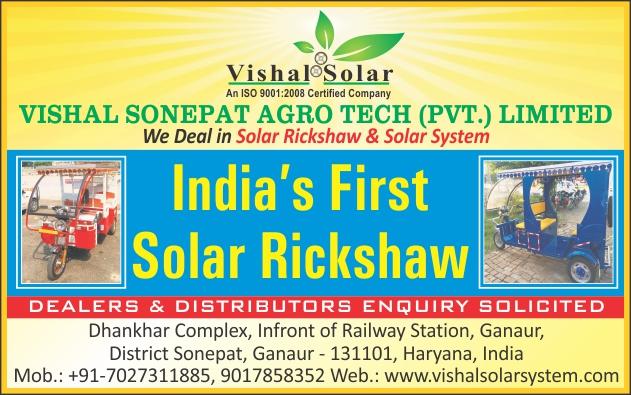 Solar Rickshaw, Solar Systems