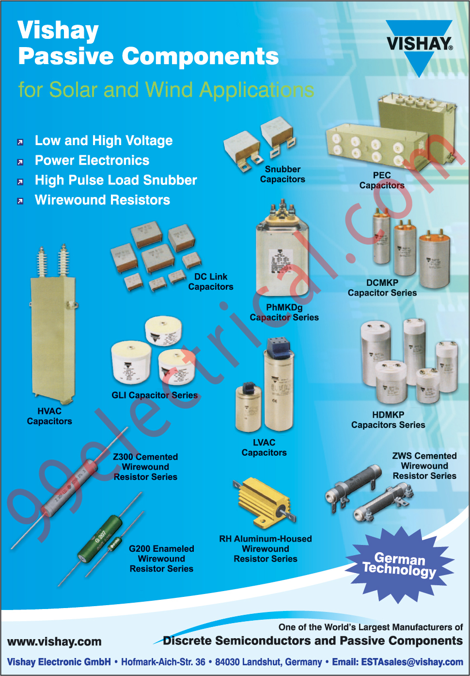 Electrical Parts, Capacitors, Discrete Semiconductors, Passive Components, Semiconductors, Wirewound Resistor, Resistor, Power Electronics, Snubber Capacitor, DC Link Capacitor, PEC Capacitors, HVAC Capacitors, GLI Capacitor, LVAC Capacitors,Semi Conductors