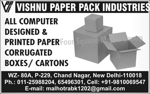 Printed Paper Corrugated Box, Printed Paper Corrugated Cartons,Printed Papers, Corrugated Boxes Cartons, Printed Corrugated Cartons