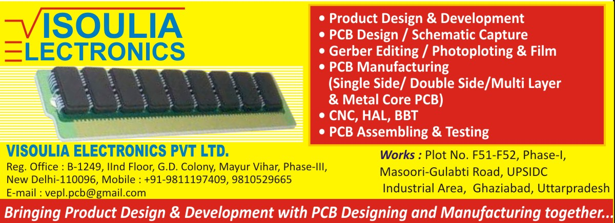 PCB Designing Services, PCB Development Services, PCB Schematic Capture Services, Gerber Editing Services, Photoploting, Gerber Films, Single Sided PCB, Printed Circuit Boards, Double Sided PCB, Multi Layer PCB, Metal Core PCB, PCB Assembling, PCB Testing Services, PCB
