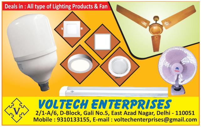 LED Lights, Bulbs, Fans, Table Fans