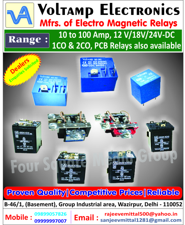 Electro Magnetic Relays, PCB Relays
